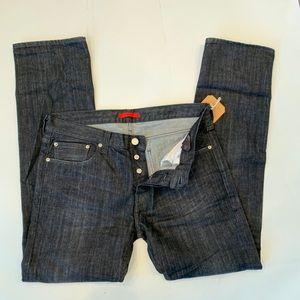 Black Slim Straight Jeans W36